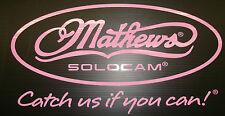 Mathews pink decal die cut