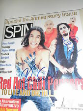 RED HOT CHILI PEPPERS SIGNED SPIN MAGAZINE 1996 PROOF!  FLEA CHAD SMITH!! COA