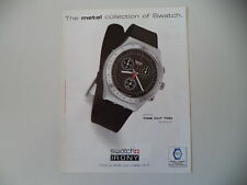 advertising Pubblicità 1998 SWATCH IRONY TIME CUT TOO