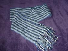 écharpe longue, rayée kaki, bleu, blanc ETAM pour l'hiver