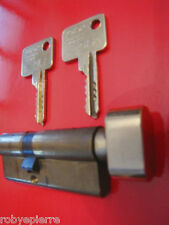 Cilindro serratura cisa europeo porta blindata 30 x 42 mm con pomolo in ottone