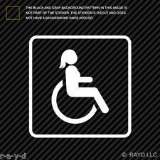 (2x) Female Handicap Sticker Die Cut Decal Self Adhesive Vinyl wheelchair girl