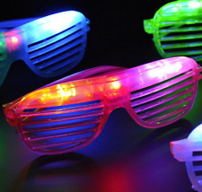 100 PCS LED Shutter Glasses Light Up Shades Flashing Rave Wedding Party Supplies
