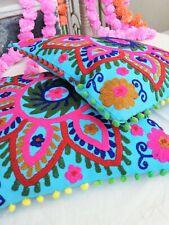 Embroidery Suzani Cushion Cover Indian Cotton Uzbek Pillow Cases Decorative SG 1