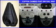 Cuffia Cambio Fiat 500 Metano 2007>2015 marce cuffie nuova cinquecento nero kit