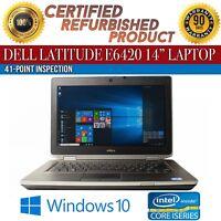 """Dell Latitude E6420 14"""" Intel i7 8 GB RAM 320 GB HDD Win 10 WiFi B Grade Laptop"""