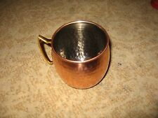 copper mug -- nickle lined - brass handle new