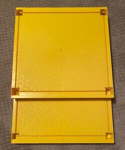 (2) Vintage 1978 Barbie Dream House Top and Bottom Floor Floors Yellow A-Frame