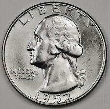 1952-d Washington Quarter.  Blast White.  Minimum Bag Marks.  BU.  (Inv. A)