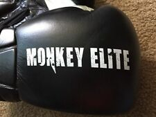 Monkey Elite Boxing Gloves 14 Oz Box Sparring MMA Black White Hook Loop NWOT