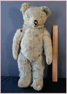 "1950s Vintage 18"" English Merrythought Teddy Bear Jointed Mohair Swivel Head TLC"
