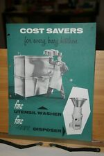 Brochure Food Machinery and Chemical Corporation Hoopeston IL Utensil Washer Jet