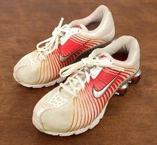 Womens Nike Shox Experience Trainer White/Metallic Silver/Dark Red - Sz 6