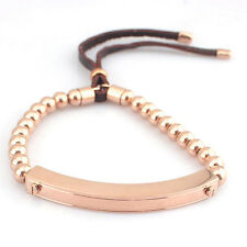 Fashion Rose Gold Color Bead Stretch Plated Golden Charm Brand  Bracelets