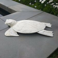 Turtle, animal, timber, white washed, decorative, sculpture, beach decor