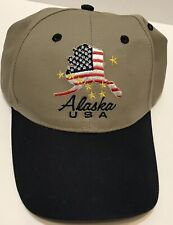 Arctic Circle ALASKA State Tan & Blue Hat Adjustable Ball Cap