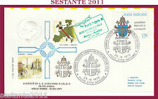 W292 VATICANO FDC ROMA VISITA PAPA GIOVANNI PAOLO II IRLANDA VOLO DUBLINO 1979