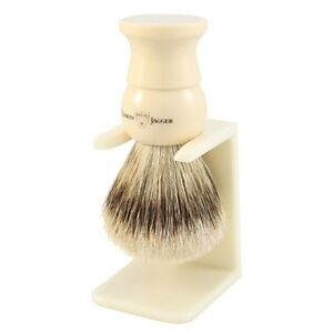 Edwin Jagger Imitation Ivory, Extra Large, Synthetic Fill Shaving Brush