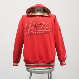 Vintage 90s San Francisco 49ers Logo Hoodie Sweatshirt Starter Size M