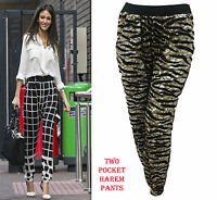 New Women's Leopard Tiger Animal Harem Pants Trousers Joggers Leggings 8 10 12