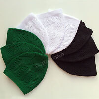 12 x Skull Cap High Quality Knitting Kufi Topi Muslim Prayer Hat Namaz Wholesale