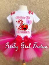 Girls Elmo Birthday Personalized Tutu Outfit Dress Party Set