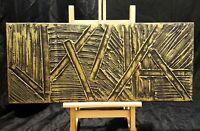 Peinture, tableau abstrait, acrylique sur toile avec texture, format 30/70 cm