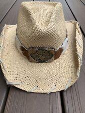 a74e83bdf Bullhide By Monte Carlo Hat Co Straw Cowboy Hat Earth N Wind Sz M   eBay