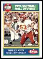 1989 Hall of Fame Green #131 Willie Lanier HOF RARE Kansas City Chiefs