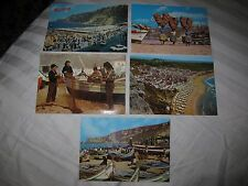 Vtg Portugal postcards, Nazare beach fishing boats typical costumes