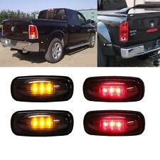 Smoked 2 Amber & 2 Red  LED Side Fender Marker Lights FOR 03-09 DODGE RAM 3500