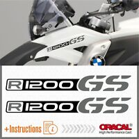 2x R1200GS Black/Grey BMW ADESIVI R1200 GS PEGATINA STICKERS AUTOCOLLANT R 1200