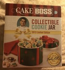 Cake Boss Serveware - Cookie Jar, Holiday Gift, Green and Red