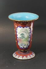 Antique Chinese Cloisonne Vase 21 cm in Height