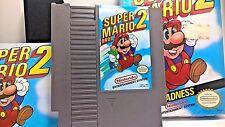 SUPER MARIO BROS 2 NINTENDO NES ENTERTAINMENT SYSTEM  COMPLETE GAME BOX  MANUAL