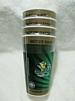 NEW In Package NOTRE DAME FIGHTING IRISH Licensed 16oz Holographic 3D Cup 4 Pack