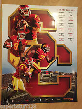 USC Trojans Football 2015 Schedule Poster SC Southern Cal Fight on Brand New LA