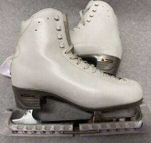 Risport RF4 White Ice Figure Skates Size 275 Uk 7 Excellent Condition