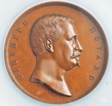 1864, Italy, Campania, Nola. Large Bronze Medal of Giuseppe Novaro. NGC MS66 BN!