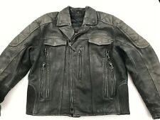 RARE HARLEY DAVIDSON FXRG MEN'S SUEDE LEATHER RIDING MOTORCYCLE JACKET XL