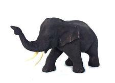 "Vintage Hand Carved Wood Thailand Elephant Sculpture Statue Figure 4"" Trunk Up#2"