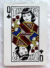 THRASHER Single Playing Card QUEEN OF CLUBS High Speed Prod Copyrighted