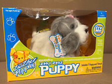 New in box! Zhu Zhu pets Puppy Dog plush gray / white named MISS PRISS
