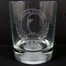 Chrysler Plymouth Golf Tournament of Champions Old Fashioned Glass Rocks Ball