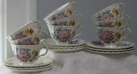 Royal Doulton Arcadia 9 cups & 9 saucers Fine Bone China England