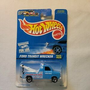 """1996 Hot Wheels  TOW TRUCK """"Kevin's 24HR Towing""""▪︎Ford Transit Wrecker # 620"""