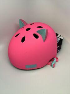 Cat Ears Bike and Skate Helmet Brand New Size Youth 54-58CM 8+ (Pink w/ Ears)