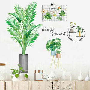 Simplicity Plant Wall Sticker Living Room Bedroom Background Decal Decoration