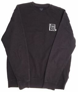 VANS Mens Sweatshirt Jumper XL Black Cotton DT10