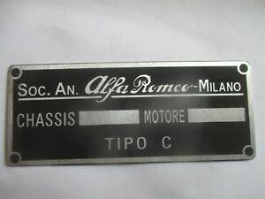 Alfa Romeo Nameplate 6C 8c 4c 1750 2300 4 6 8 Tipo C